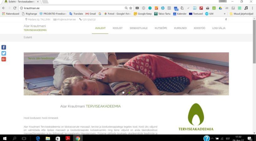 Seto Infoseltsil valmis Alar Krautmani Terviseakadeemia uus koduleht